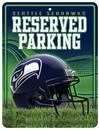Seattle Seahawks Metal Parking Sign