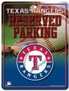 Texas Rangers Metal Parking Sign