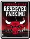 Chicago Bulls Metal Parking Sign
