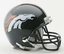 Denver Broncos Replica Mini Helmet w/ Z2B Face Mask