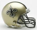New Orleans Saints Replica Mini Helmet w/ Z2B Face Mask