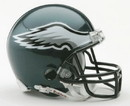 Philadelphia Eagles Replica Mini Helmet w/ Z2B Face Mask