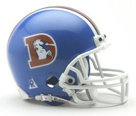 Denver Broncos 1975-96 Throwback Replica Mini Helmet