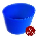 "Aspire Reusable Cup Sleeve Silicone Heat Resistant, 6 Pcs(Random Color) 2-10/12""Dia"