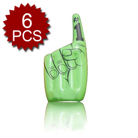 Large #1 Cheering Finger, Inflatable Victory Hand, Price/6 PIECES