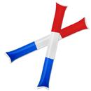 GOGO 50 Pairs Patriot Style Thunder Sticks, Inflatable Stadium Noisemakers