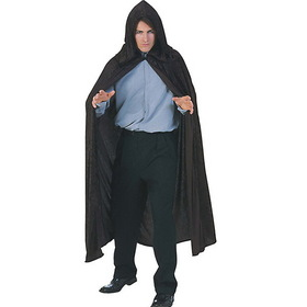 RUBIES COSTUME 16082 Hooded Velvet Black Cape Adult Costume