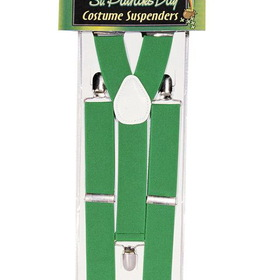 FORUM NOVELTIES 56268F St Patrick's Day Green Suspenders
