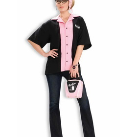 FORUM NOVELTIES 61927 Female Bowlers Shirt Adult Costume