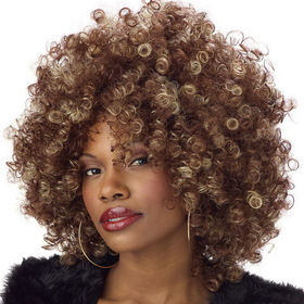 CALIFORNIA COSTUME COLLECTIONS 70257CC Women's Fine Foxy Brown & Blonde Fro Wig