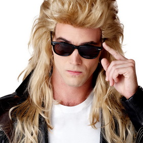 CALIFORNIA COSTUME COLLECTIONS 70626CC Adult 80's Rock Mullet Wig