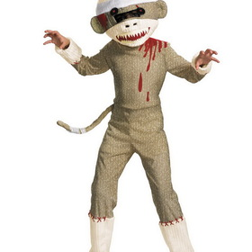 DISGUISE DI19425-L Boys Zombie Sock Monkey Costume