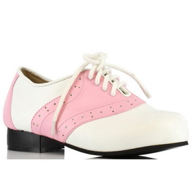 E101-SADDLE-XL Children's Pink and White Saddle Shoe