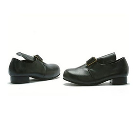 E101-SAMUEL-XL Children's Black Colonial Shoe