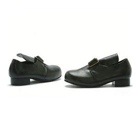 E101-SAMUEL-XL Children's Black Colonial Shoe
