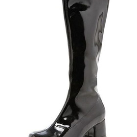 E175-DORAB-XS Black Patent Go Go Boot Child