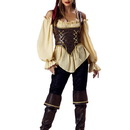 INCHARACTER COSTUMES IC1024 Women's Elite Rustic Pirate Costume