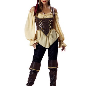 INCHARACTER COSTUMES IC1024 Rustic Pirate Lady Elite Adult Costume