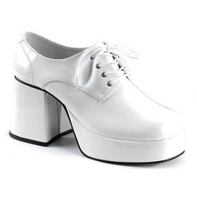 Ellie Shoes PLC1501WH White Platform Shoes