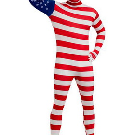 R880513-XL Men's USA Flag Skin Suit Adult Costume