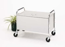 Charnstrom M021 Roll Away Solid Bin Cart with Locking Lid