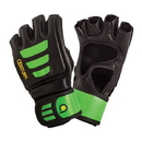 Century Brave Youth Open Palm Gloves, Black/Green