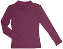 Classroom Uniforms 58542 Girls Long Sleeve Fitted Interlock Polo