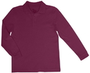 Classroom Uniforms 58732 Youth Unisex Long Sleeve Interlock Polo