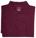 Classroom Uniforms 58734 Adult Unisex Long Sleeve Interlock Polo