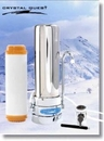 Crystal Quest CQE-CT-00157 Countertop Replaceable Single Nitrate/Multi Water Filter System (Stainless Steel)