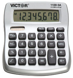 Victor 1100-3A Mini Desktop Calculator, 1100-3A