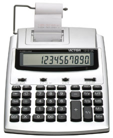 Victor 1212-3A Desktop Printing Calculator, 1212-3A