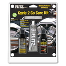 Flitz Cycle 2 Go Care Kit w/Polish, Speed Waxx , Chrome Clean & Microfiber Cloth