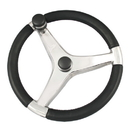 Ongaro Evo Pro 316 Cast Stainless Steel Steering Wheel w/Control Knob - 15.5