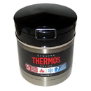 Thermos Vacuum Insulated Flip Top Food Jar - Black/Stainless - 10 oz.