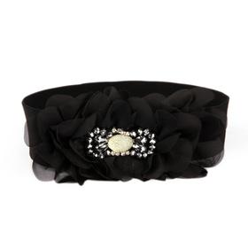 TopTie Organza Flower Elastic Waist Belt - Pink