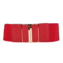 TopTie Stretchy Waist Belt Simple Style Metal Buckle