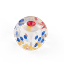GOGO 100 PCS Transparent Playing Dice with Multicolored Spots