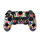 DecalGirl PS4C-SFLAGS Sony PS4 Controller Skin - Soccer Flags (Skin Only)