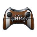 DecalGirl WIUPC-FOOTBALL Nintendo Wii U Pro Controller Skin - Football (Skin Only)