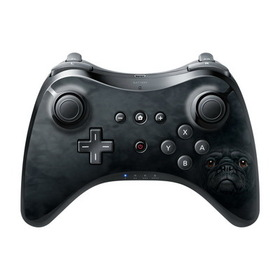 DecalGirl Nintendo Wii U Pro Controller Skin - Black Pug