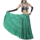 BellyLady Tribal Gypsy 17 Yard Solid Belly Dance Maxi Skirt With Drawstring