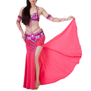 BellyLady Professional Tribal Egyptian Belly Dance Split Sides Beaded Skirt