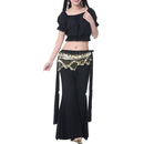 BellyLady Belly Dance Tribal Costume Set, Cotton Ruffle Top And Pants, 2 Pieces