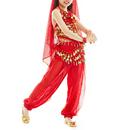 TopTie Kid's Belly Dance Girl Halter Top, Harem Pants, Halloween Costumes Set