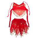 TopTie Kid's Belly Dance Pull-On Skirt & Halter Top Set, Halloween Costumes