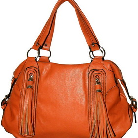 Lexington 177Q1512Orange Orange Tassels Shoulder Purse