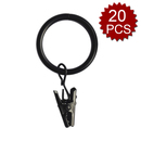 Aspire 20 Pieces Metal Rings With Removable Clips For Curtain Shade