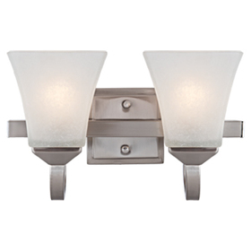 Design House 514752 Torino 2-Light Vanity Light, Satin Nickel Finish