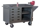 Durham 3402-95 14 Gauge Mobile Bench Cabinets